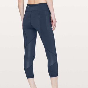 "Lululemon Pace Rival Crop *22"" Midnight Navy"